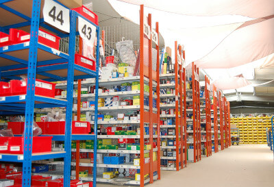 Logistikzentrum und Lagerraum von MKS Autoteile