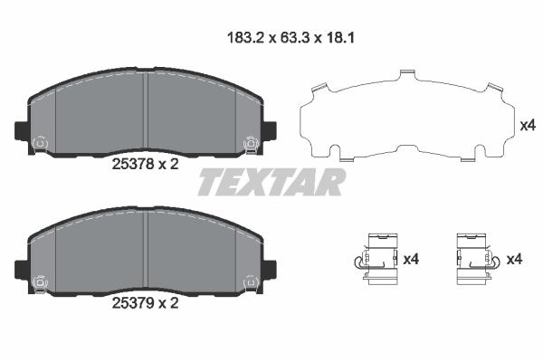 Textar Bremsbelagsatz Nr 2537601